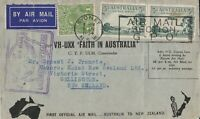 AFC115) First official airmail cover Australia – New Zealand 10 April 1934
