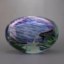 Vintage 50's 60s Italian Designer Art Glass Vase  Artist Signed