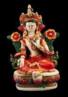Soprammobile Tibetano Da Verde Tara Meditazione IN Resina Budda 9cm 5737