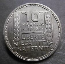 10 FRANCS TURIN 1945 Rameaux Courts - RARE