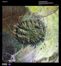 SCIENCE MAP SATELLITE BRANDBERG MASSIF NAMIBIA DESERT REPRO POSTER PRINT PAM1506