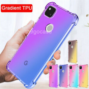 Case For Google Pixel 6 Pro 5A 4XL Shockproof Clear Gradient TPU Silicone Cover