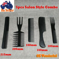 5pcs Beauty Salon Hair Styling Hairdressing Plastic Barbers Brush Combs Style
