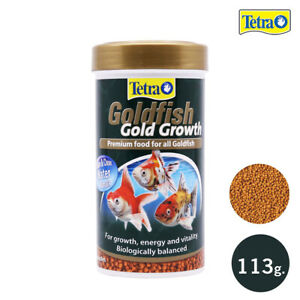 113 g. Tetra Goldfish Food Fish Gold Growth Aquarium Granules Mini Pellets