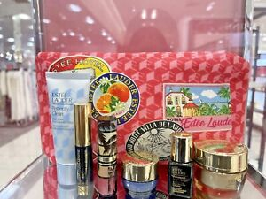 BN Estee Lauder 2021 New Revitalizing Supreme 7-Pc. Gift Set Skincare Makeup Bag