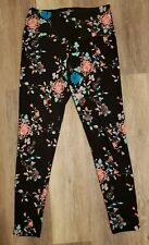 Lysse Leggings Size Medium Womens Floral Ankle Length Black