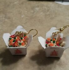 Miniature Chinese Takeout Charm Wires Food Clay Charms Wires Unique Miniatures
