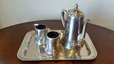 Crescent Silver Mfg Co S.P.N.S 4 Piece Tea Set / Teapot , Creamer ,Sugar ,Tray