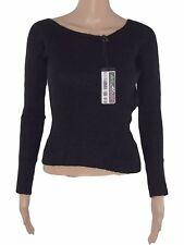 le complici maglione maglioncino donna nero lana made italy taglia m medium