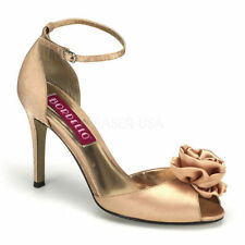 High (3 in. and Up) Open Toe Medium (B, M) Textured Heels for Women