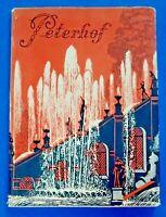 PETERHOF ~ PARKS AND PALACES 1934 ~ VINTAGE PAPERBACK MINI BOOK W/ JACKET VG