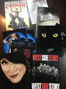 Lot 7 Broadway Souvenir Brochure West Side Grease Sunset Carousel Kiss Spider