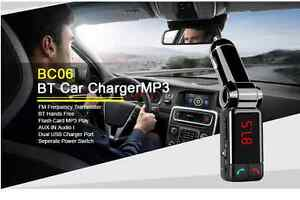 Bluetooth Music Receiver 3.5mm Adapter Handsfree Car AUX Speaker FM Transmitter