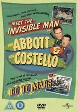 ABBOTT AND COSTELLO - MEET THE INVISIBLE MAN / GO TO MARS - DVD - REGION 2 UK