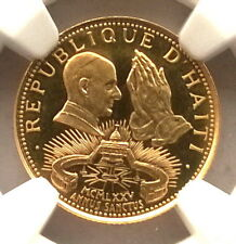 Haiti 1974 Pope Paul Holy Year 200 Gourdes NGC PF69 Gold Coin,Proof