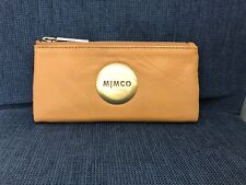 MIMCO Honey MIM FOLD WALLET Gold button Cow Leather Authentic New with tagRRP179