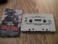 Stevie Ray Vaughan And Double Trouble-Texas Flood Audio Cassette w Pride and Joy