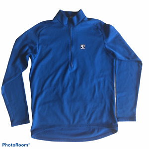 PEARL IZUMI Technical Wear 1/2 Zip Pull Over Cycling Top Long Sleeve Blue Womens