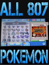GENUINE POKEMON ULTRA SUN WITH ALL 807 SHINY POKEMON NINTENDO 3DS / 2DS MOON