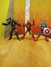 "Marvel Universe Hasbro 3.75"" War Machine Iron Man & Captain America figure lot"