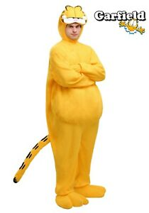 Adult Garfield Cat Costume Size XL 4X (Used)