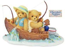CHERISHED TEDDIES 2005 LE FIGURINE, FRAN, HANK, BOAT, FISHING, 4001914, NIB