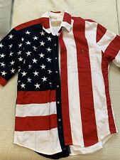 the westerns collection scully Mens Patriotic American flag Shirt Used Size MED