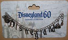 Disney Disneyland Dangle 60th Anniversary Celebration Charm Bracelet