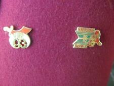 Vintage Lot NC Masonic Shriners Jeweled Oasis Fez/ Hat Box/ 7 Pins/ 3 Patches