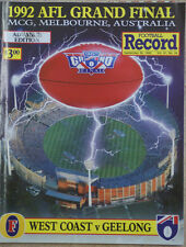 AFL 1992 GRAND FINAL RECORD GEELONG V WEST COAST