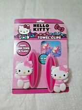 New - Towel Clips for Beach / Pool Towels (1 set of 2 pcs.) - Hello Kitty