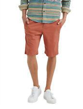 """Lucky BRAND Mens Chutney Red Flat Front Saturday Stretch 10"""" Shorts 34w 5027-6"""