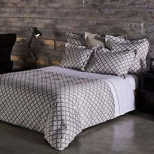 Frette At Home Ticino Waves Cotton KING Duvet Comforter Cover Bedding I4014