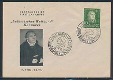 Ersttagsbrief-Briefmarken aus der BRD (1949-1959) mit Religions-Motiv