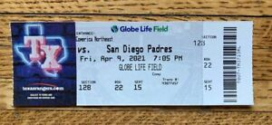 FULL AUTHENTIC TICKET JOE MUSGROVE NO-HITTER 4/9/21 *1ST PADRES NO-HITTER!*