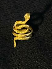 Roman Solid Gold Snake Finger Ring, c.1st-2nd Century A.D Ancient Jewelry