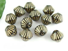 8 böhmischer Glasperlen rose opal 13x9mm Perlen neu 9646