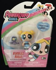 Cartoon Network Powerpuff Girls BUBBLES Action Doll Figurine Incl. Display Stand