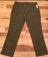 Gap Mens 34 X 30 Olive Green (Lived In Straight Stretch) Gap Khakis Pants. Nwt