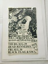 Rare Punk Handbill Dead Kennedys Black Flag