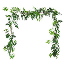 2PCS Artificial Hanging Willow Leaves Vines Twigs Outdoor Wedding Decor Party