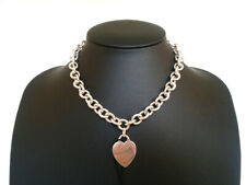 Tiffany & Co. Heart Tag Choker Necklace Sterling Silver [H]