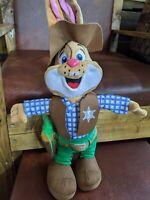 Wild West Sparky Rabbit Plush Large Soft Toy Park Resorts Souvenir Rare