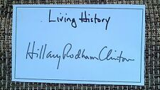 Signed Preprinted Bookplate Hillary Clinton Signature Living History RP copy
