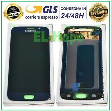 DISPLAY LCD ORIGINALE SAMSUNG GALAXY S6 SM-G920F G920 F TOUCH SCREEN VETRO BLU
