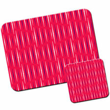 Cascading Dot Lines Mouse Mat / Pad and Coaster Set