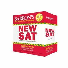 Barron's NEW SAT Flash Cards, 3rd Edition: 500 Flash Cards to Help You Achieve a