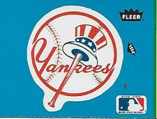 MLB BASEBALL NEW YORK YANKEES TEAM LOGO STICKER 1985 FLEER BB SWEEPSTAKES