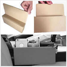 1 Pcs Car Seat Gap Slit PU Leather Beige Catcher Leakproof Organizer Storage Box