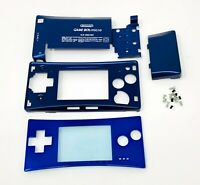 BRAND NEW Game Boy Micro Full Housing Shell Replacement GBM W/ Faceplate Blue